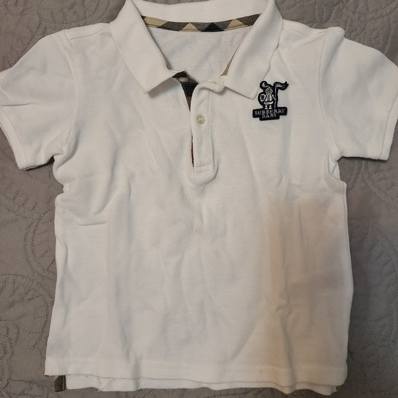 Burberry baby boy onesie and polo shirt